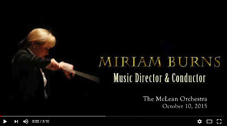 Miriam Burns Conducting Brahm's Movement II